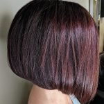 chocolate cherry angled bob