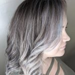 dark ash blonde with cool toned light blonde and lavender balayage