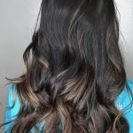 dark chocolate carmel balayage babylights