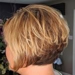 warm blonde stacked wedge